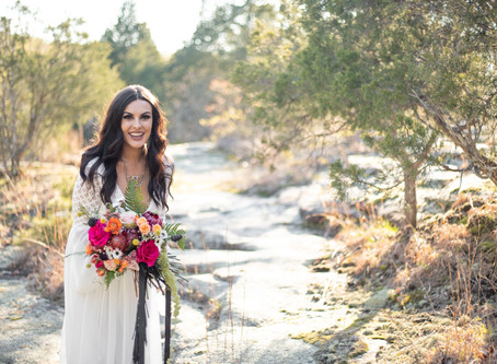 """Follow your bliss..."" A tropical desert styled bridal shoot."