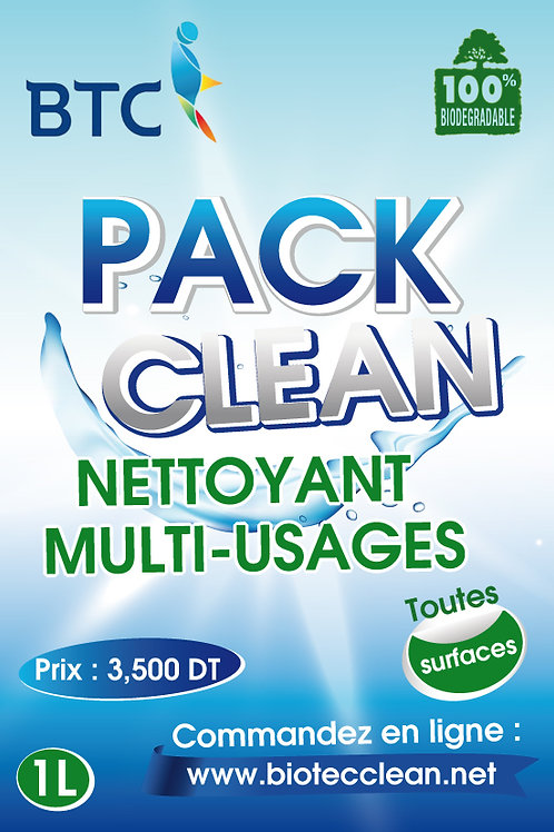 PACK CLEAN - NETTOYANT DEGRAISSANT MULTI-USAGES