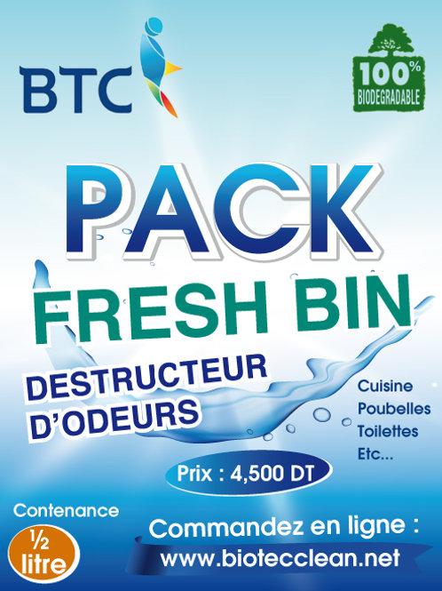 PACK FRESH BIN - DESTRUCTEUR D'ODEURS (Idem FEBREZE)