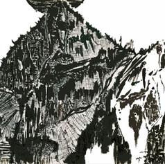 Mt Deborah - Plein Air Ink