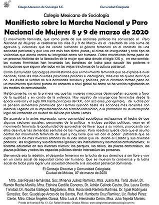 02.20 Manifiesto COLMES por el 8M y 9M 2