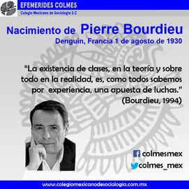 Nacimiento de Pierre Bourdieu 1 de agosto