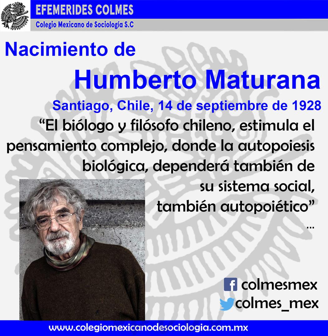 Humberto Maturana 14 de Septiembre 1928