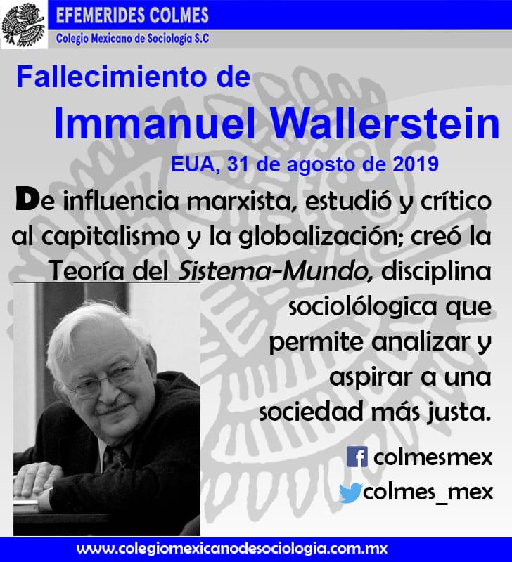 Fallecimiento de Immanuel Wallerstein