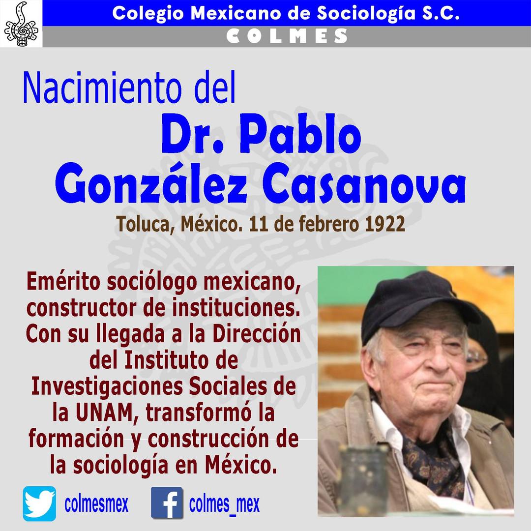Nacimiento del Dr. Pablo González Casanova