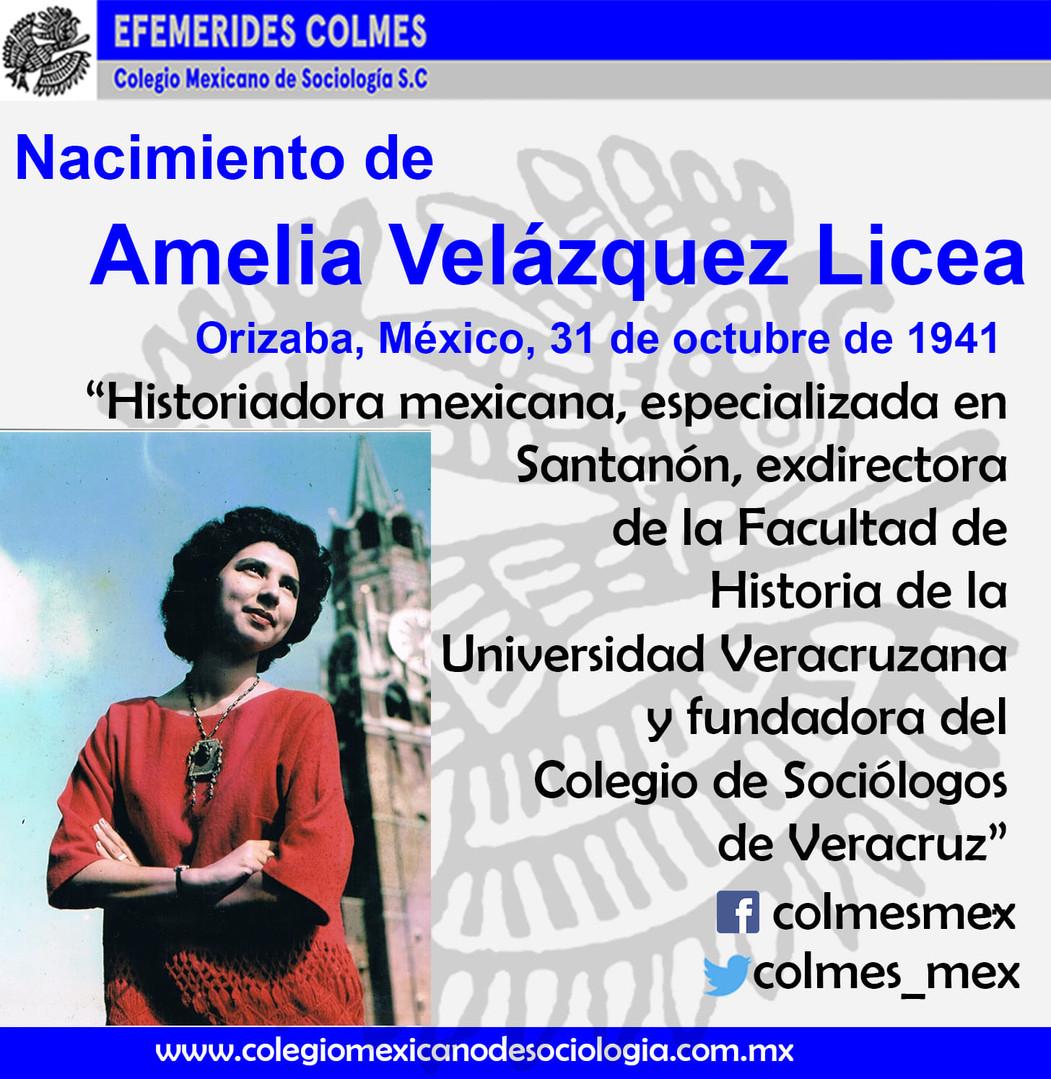 Amelia Velázquez Licea 31 de Octubre 1941