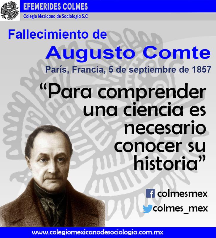 Fallecimiento de Augusto Comte 5 de Septiembre