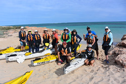 Our sea kayaking group
