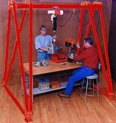 Wallace Adjustable Height Workstation or Mighty-Mite Cranes