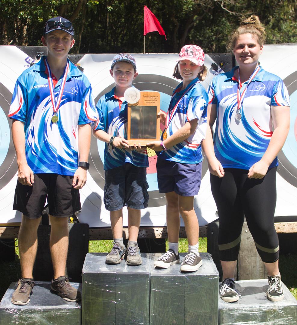 Winners Compound Team Event: Coast Archers 2019