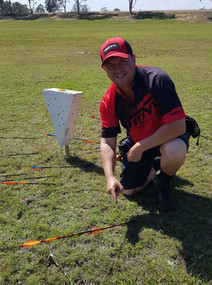 Barry Parker, robin hood in Clout from 180 metres