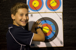 Fun at the indoor archery competition
