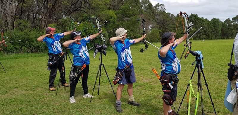 Coast Archers shoot downhill from this elevated platform