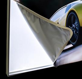 edge lit fabric light box - technilite