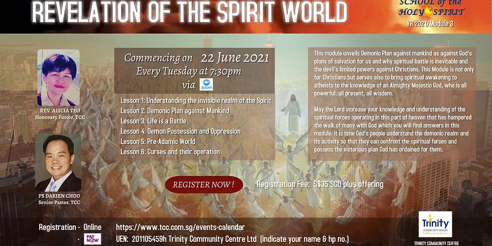 School of the Holy Spirit :  REVELATION OF THE SPIRIT WORLD