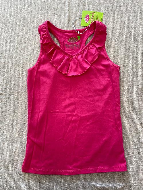 Pink Ruffle Tank- Size 10