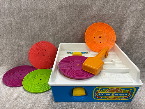 Vintage 1987 Fisher Price Music Box Record Player