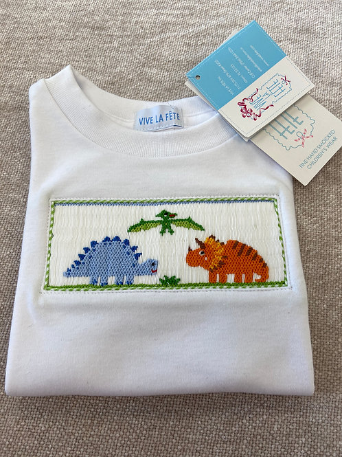 Smocked Dinosaur Shirt
