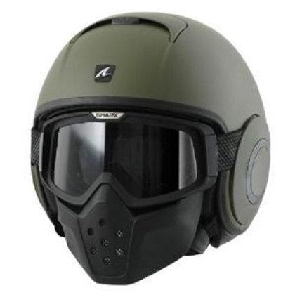 Shark DRAK Openface Helmets Mat Green GMA