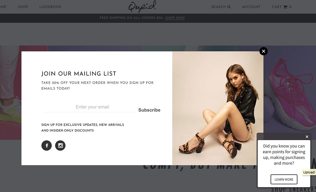 QUPID SHOES E-COMMERCE ADVERTISING MAKEUP
