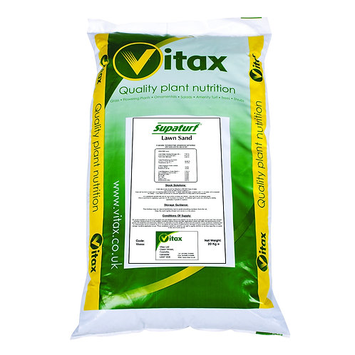 20kg Vitax Traditional Lawn Sand 3+0+0+7% fe