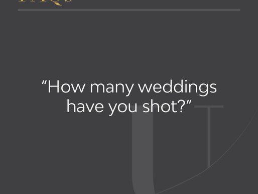 How many weddings have you shot?