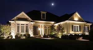 awesome-outdoor-lighting-front-of-house-