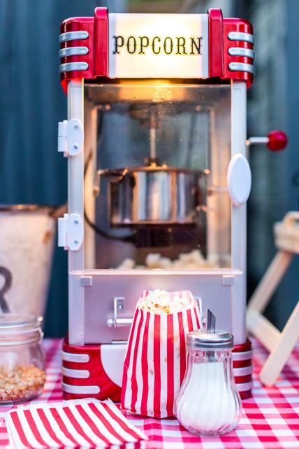 Our retro popcorn machine