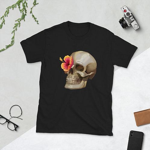Skull Flower - Short-Sleeve Unisex T-Shirt