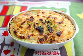 アボガドと里芋のグラタン