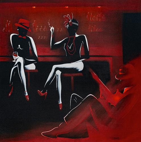 BB (80x80 cm) exposée Galerie Antares à Toulouse - disponible au 1/01/2021