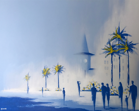 Bleu Cros  (65x54 cm)