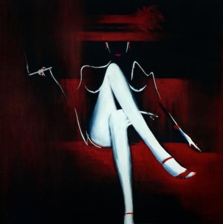 Elisa (80x80 cm) exposée Galerie Antares à Toulouse - disponible au 1/01/2021