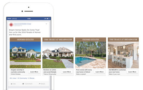 Showing people how to utilize Facebook carousel ads to generate leads.