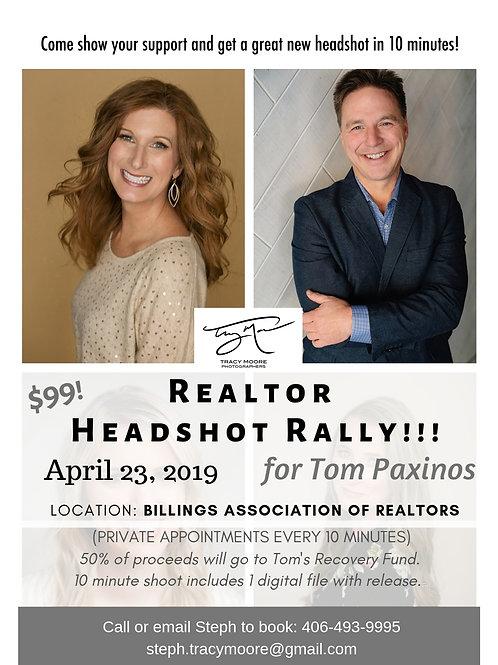 Realtor Headshot Rally for Tom!
