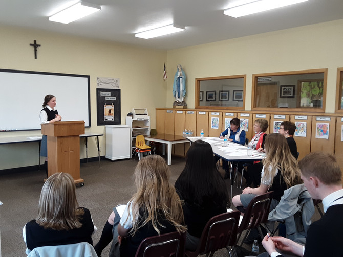 Juniors and Seniors breathe a sigh of relief after Thesis presentations