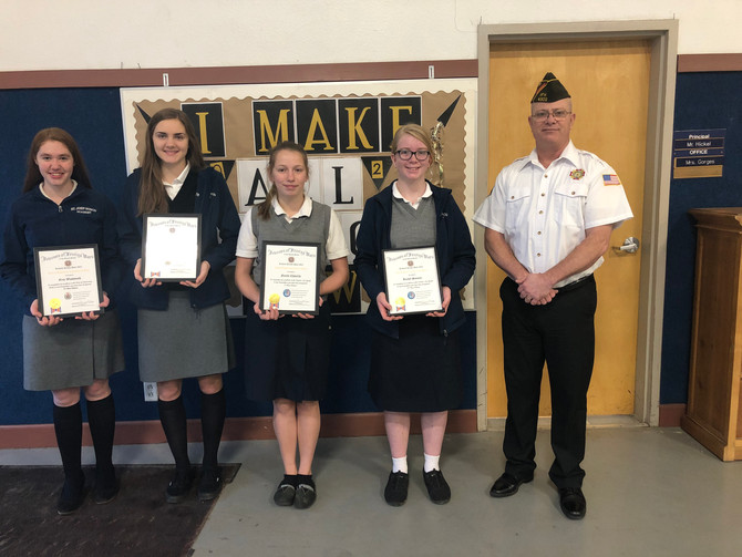 SJB Students win writing contests