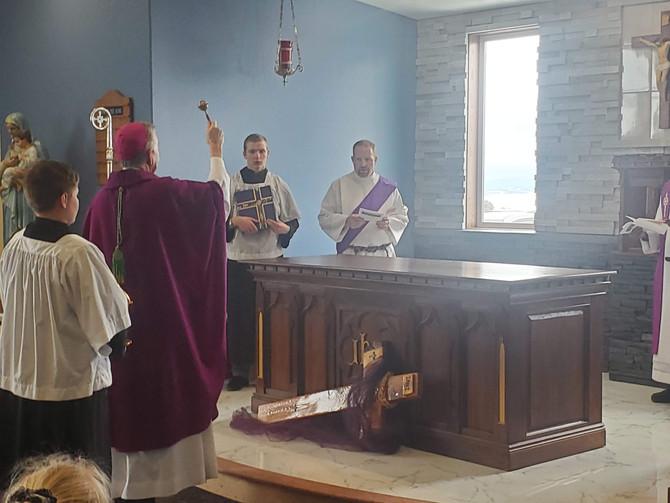 Bishop Blesses New Chapel
