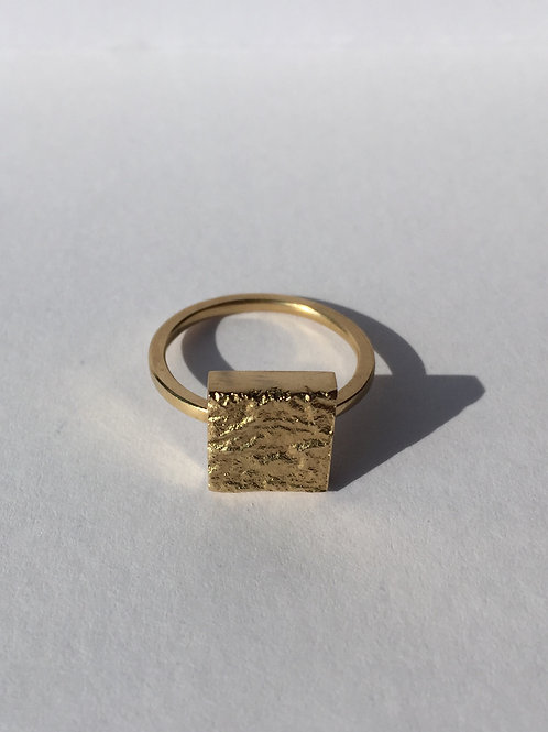THE SQUARE MOON RING / GOLD