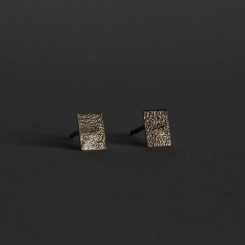 SIMPLE RECTANGULAR EARRINGS / SILVER
