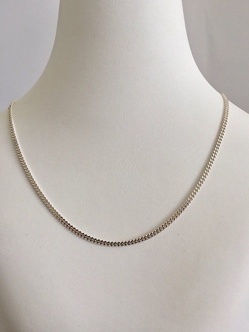 CURB SILVER CHAIN / DIFFERENT SIZES