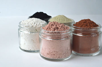 Cosmetic clays for facial beauty face ma
