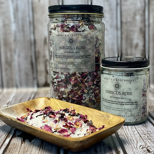 Hibiscus Rose Detoxing Bath Salts