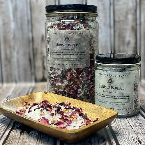 Hibiscus Rose Detoxing Bath Salts