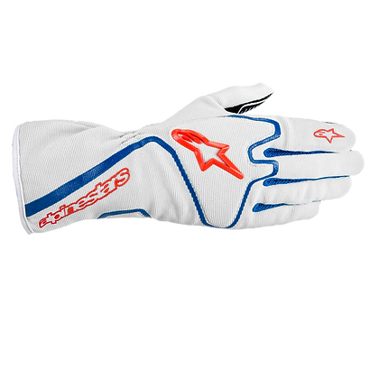 TECH 1-K RACE GLOVE / PLATA AZUL ROJO