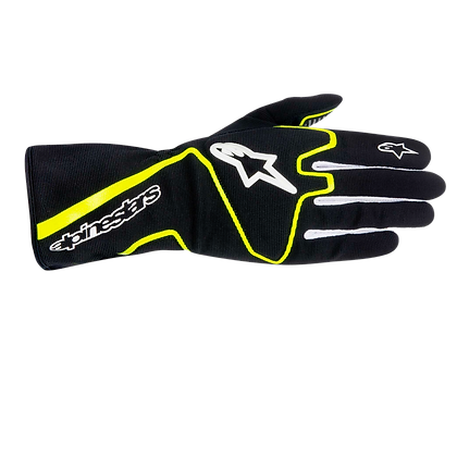 TECH 1-K RACE GLOVE / NEGRO AMARILLO FLUO
