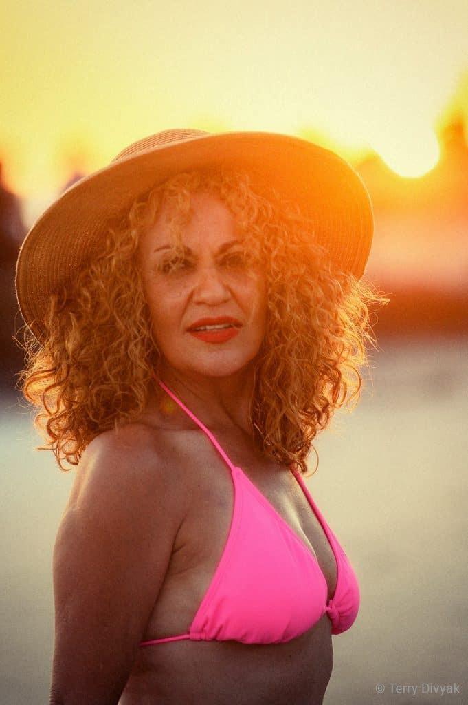 Bikini Model Berenice at Sunset