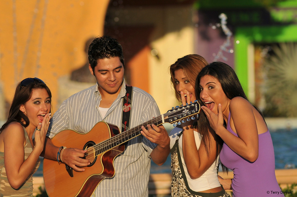 Musician in town square in San Jose del Cabo