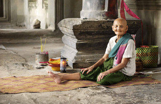 Lady in Angkor Wat