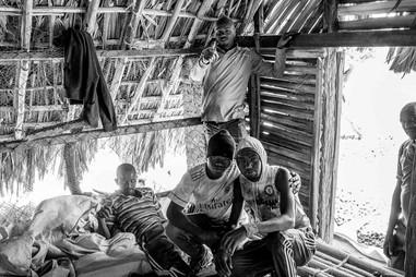 Onion shed workers near Lake Eyasi in Tanzania